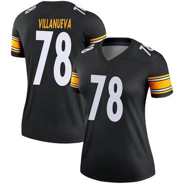 Women's Nike Pittsburgh Steelers Alejandro Villanueva Black Jersey - Legend