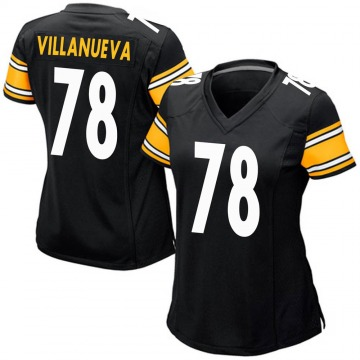 Women's Nike Pittsburgh Steelers Alejandro Villanueva Black Team Color Jersey - Game