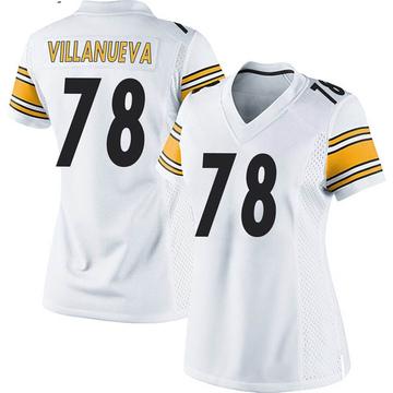 Women's Nike Pittsburgh Steelers Alejandro Villanueva White Jersey - Game