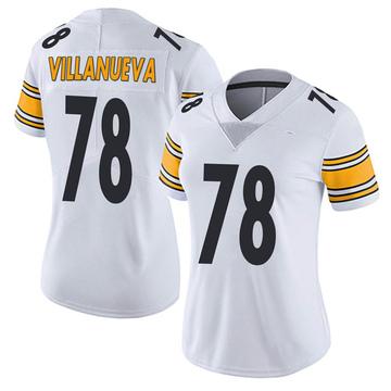 Women's Nike Pittsburgh Steelers Alejandro Villanueva White Vapor Untouchable Jersey - Limited