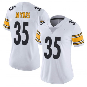 Women's Nike Pittsburgh Steelers Alexander Myres White Vapor Untouchable Jersey - Limited