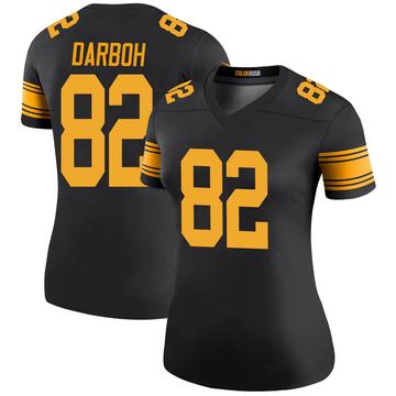 Women's Nike Pittsburgh Steelers Amara Darboh Black Color Rush Jersey - Legend
