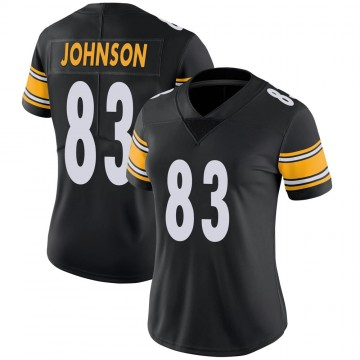 Women's Nike Pittsburgh Steelers Anthony Johnson Black 100th Vapor Jersey - Limited