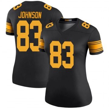 Women's Nike Pittsburgh Steelers Anthony Johnson Black Color Rush Jersey - Legend