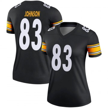 Women's Nike Pittsburgh Steelers Anthony Johnson Black Jersey - Legend