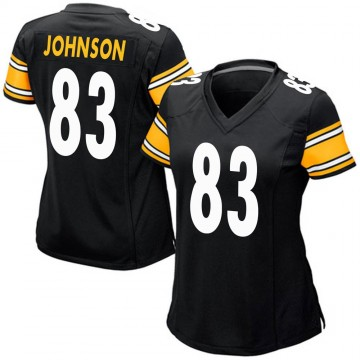 Women's Nike Pittsburgh Steelers Anthony Johnson Black Team Color Jersey - Game