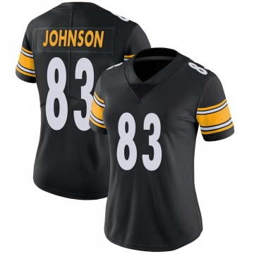 Women's Nike Pittsburgh Steelers Anthony Johnson Black Team Color Vapor Untouchable Jersey - Limited