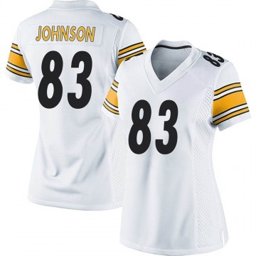 Women's Nike Pittsburgh Steelers Anthony Johnson White Jersey - Game