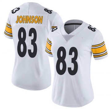 Women's Nike Pittsburgh Steelers Anthony Johnson White Vapor Untouchable Jersey - Limited