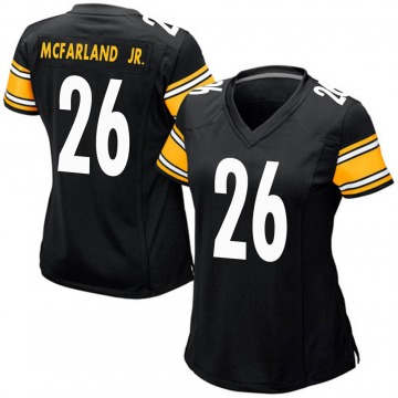 Women's Nike Pittsburgh Steelers Anthony McFarland Jr. Black Team Color Jersey - Game