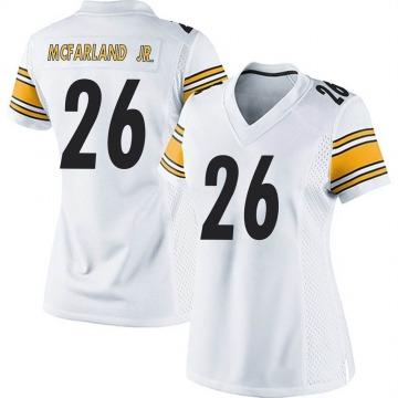 Women's Nike Pittsburgh Steelers Anthony McFarland Jr. White Jersey - Game