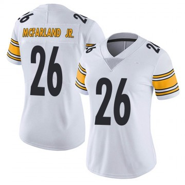 Women's Nike Pittsburgh Steelers Anthony McFarland Jr. White Vapor Untouchable Jersey - Limited