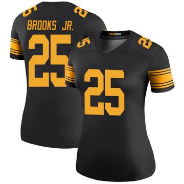 Women's Nike Pittsburgh Steelers Antoine Brooks Jr. Black Color Rush Jersey - Legend