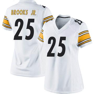 Women's Nike Pittsburgh Steelers Antoine Brooks Jr. White Jersey - Game