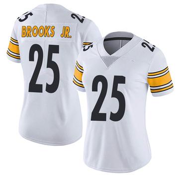 Women's Nike Pittsburgh Steelers Antoine Brooks Jr. White Vapor Untouchable Jersey - Limited