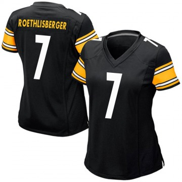 Women's Nike Pittsburgh Steelers Ben Roethlisberger Black Team Color Jersey - Game