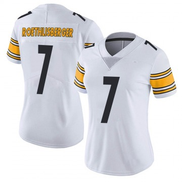 Women's Nike Pittsburgh Steelers Ben Roethlisberger White Vapor Untouchable Jersey - Limited
