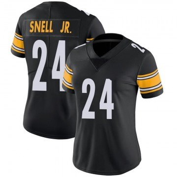 Women's Nike Pittsburgh Steelers Benny Snell Jr. Black 100th Vapor Jersey - Limited