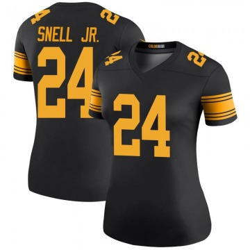 Women's Nike Pittsburgh Steelers Benny Snell Jr. Black Color Rush Jersey - Legend