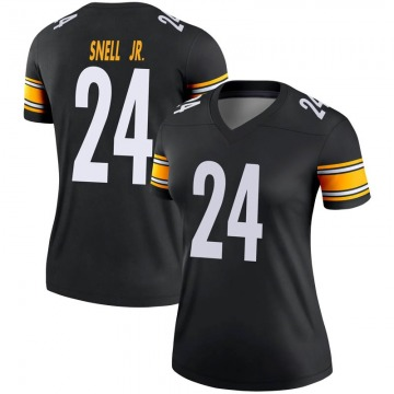 Women's Nike Pittsburgh Steelers Benny Snell Jr. Black Jersey - Legend