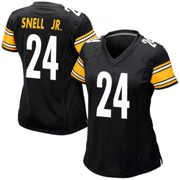 Women's Nike Pittsburgh Steelers Benny Snell Jr. Black Team Color Jersey - Game