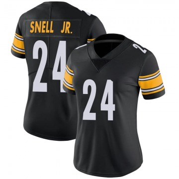 Women's Nike Pittsburgh Steelers Benny Snell Jr. Black Team Color Vapor Untouchable Jersey - Limited