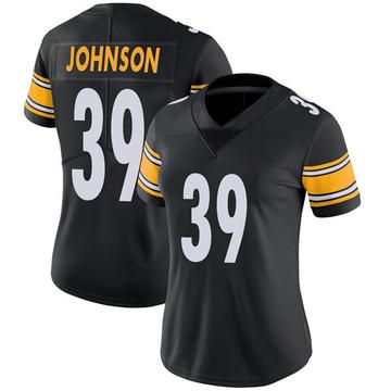 Women's Nike Pittsburgh Steelers Brandon Johnson Black Team Color Vapor Untouchable Jersey - Limited