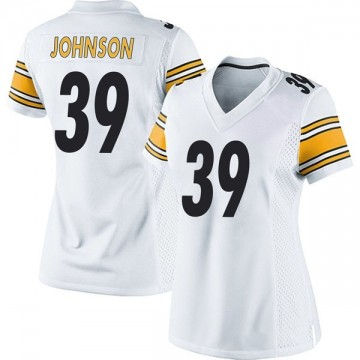 Women's Nike Pittsburgh Steelers Brandon Johnson White Jersey - Game