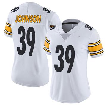 Women's Nike Pittsburgh Steelers Brandon Johnson White Vapor Untouchable Jersey - Limited