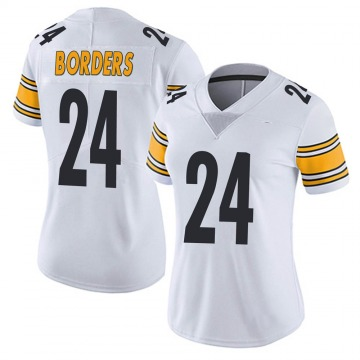 Women's Nike Pittsburgh Steelers Breon Borders White Vapor Untouchable Jersey - Limited