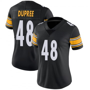 Women's Nike Pittsburgh Steelers Bud Dupree Black 100th Vapor Jersey - Limited