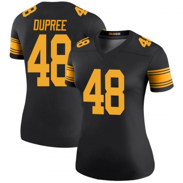 Women's Nike Pittsburgh Steelers Bud Dupree Black Color Rush Jersey - Legend