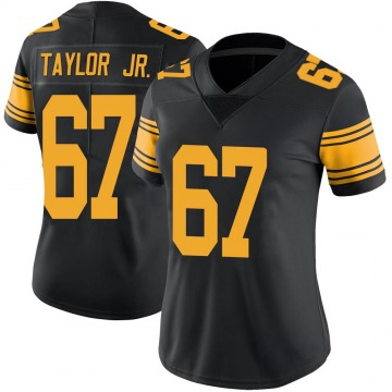 Women's Nike Pittsburgh Steelers Calvin Taylor Jr. Black Color Rush Jersey - Limited