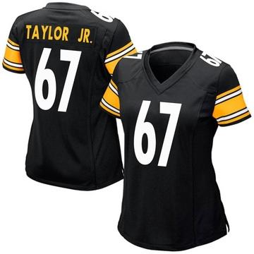 Women's Nike Pittsburgh Steelers Calvin Taylor Jr. Black Team Color Jersey - Game