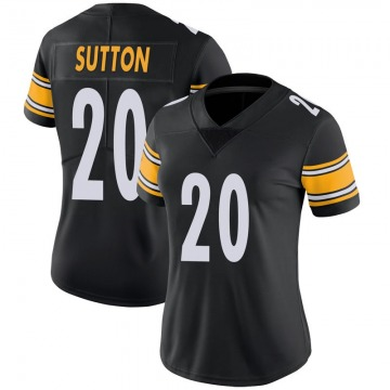 Women's Nike Pittsburgh Steelers Cameron Sutton Black 100th Vapor Jersey - Limited