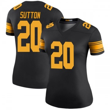 Women's Nike Pittsburgh Steelers Cameron Sutton Black Color Rush Jersey - Legend