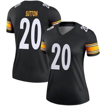 Women's Nike Pittsburgh Steelers Cameron Sutton Black Jersey - Legend