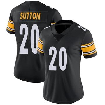Women's Nike Pittsburgh Steelers Cameron Sutton Black Team Color Vapor Untouchable Jersey - Limited