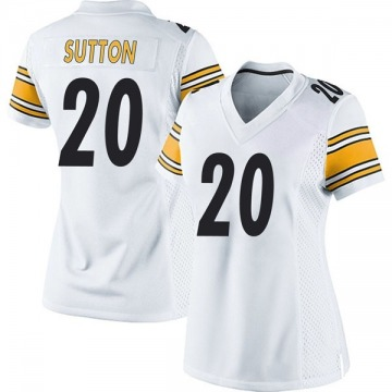 Women's Nike Pittsburgh Steelers Cameron Sutton White Jersey - Game