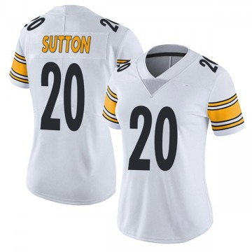 Women's Nike Pittsburgh Steelers Cameron Sutton White Vapor Untouchable Jersey - Limited