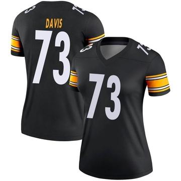 Women's Nike Pittsburgh Steelers Carlos Davis Black Jersey - Legend