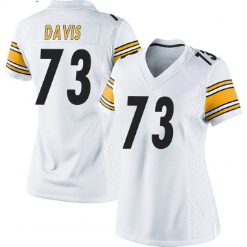 Women's Nike Pittsburgh Steelers Carlos Davis White Jersey - Game