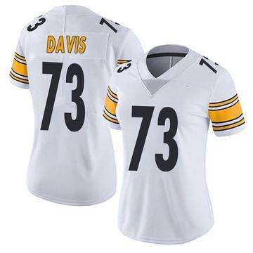 Women's Nike Pittsburgh Steelers Carlos Davis White Vapor Untouchable Jersey - Limited