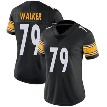 Women's Nike Pittsburgh Steelers Cavon Walker Black 100th Vapor Jersey - Limited