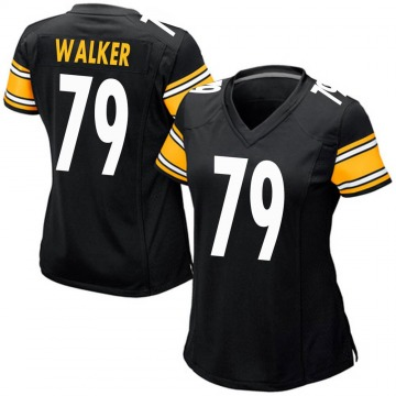 Women's Nike Pittsburgh Steelers Cavon Walker Black Team Color Jersey - Game