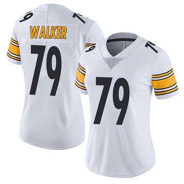 Women's Nike Pittsburgh Steelers Cavon Walker White Vapor Untouchable Jersey - Limited