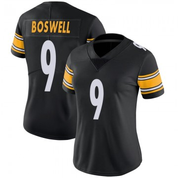 Women's Nike Pittsburgh Steelers Chris Boswell Black 100th Vapor Jersey - Limited