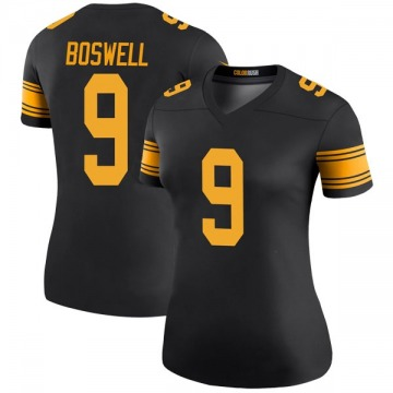 Women's Nike Pittsburgh Steelers Chris Boswell Black Color Rush Jersey - Legend
