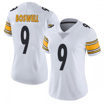 Women's Nike Pittsburgh Steelers Chris Boswell White Vapor Untouchable Jersey - Limited