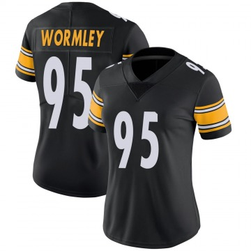 Women's Nike Pittsburgh Steelers Chris Wormley Black 100th Vapor Jersey - Limited